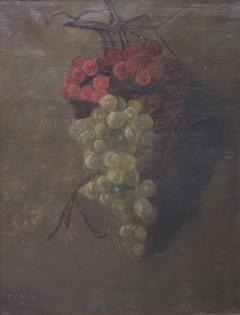 American School American School Still Life of a Cluster of Red and Green Grapes - 1214804