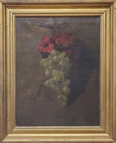 American School American School Still Life of a Cluster of Red and Green Grapes - 1214806