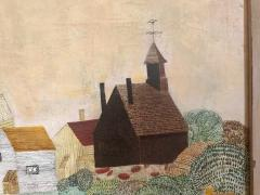 American School Early 20th Century New England Landscape Folk Art Painting - 747023