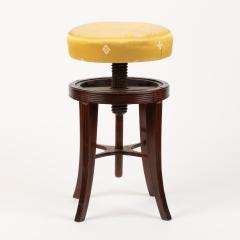 American Sheraton mahogany circular seat piano stool - 1930716
