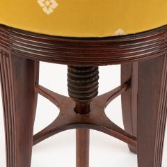 American Sheraton mahogany circular seat piano stool - 1930718