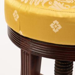 American Sheraton mahogany circular seat piano stool - 1930719