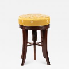 American Sheraton mahogany circular seat piano stool - 1932879