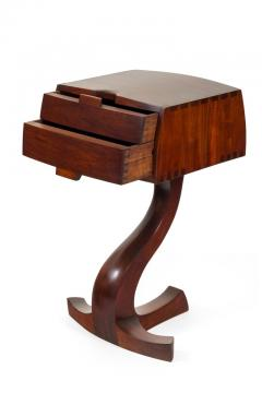 American Studio Crafts Movement Walnut Two Drawer Stand - 1223893