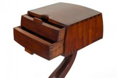 American Studio Crafts Movement Walnut Two Drawer Stand - 1223896
