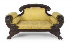 American Victorian Gold Upholstered Loveseat - 1419373