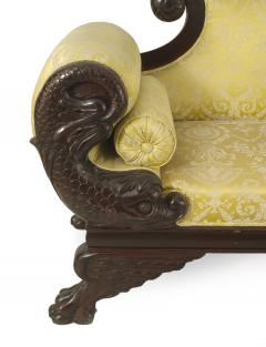 American Victorian Gold Upholstered Loveseat - 1419374