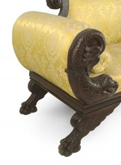 American Victorian Gold Upholstered Loveseat - 1419375