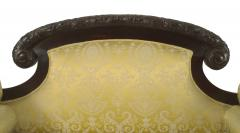 American Victorian Gold Upholstered Loveseat - 1419376