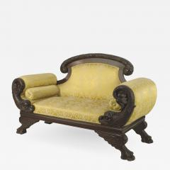 American Victorian Gold Upholstered Loveseat - 1421381