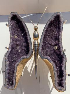 Amethyst Butterfly Coffee Table - 1193496