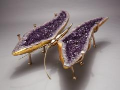 Amethyst and Bronze Butterfly Coffee Table - 1974551