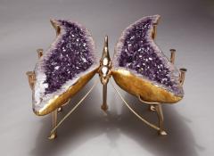 Amethyst and Bronze Butterfly Coffee Table - 1974552