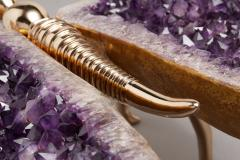 Amethyst and Bronze Butterfly Coffee Table - 1974556