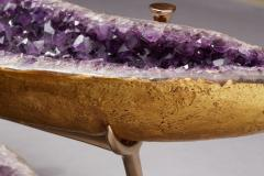 Amethyst and Bronze Butterfly Coffee Table - 1974557