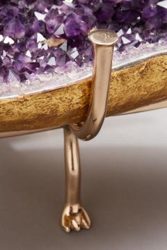 Amethyst and Bronze Butterfly Coffee Table - 1974559