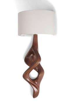 Amorph Nomi Sconces Natural Walnut with Ivory shade - 1038428