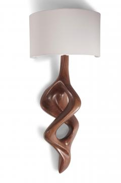 Amorph Nomi Sconces Natural Walnut with Ivory shade - 1038429