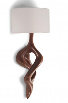 Amorph Nomi Sconces Natural Walnut with Ivory shade - 1038430