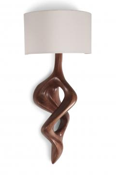 Amorph Nomi Sconces Natural Walnut with Ivory shade - 1038432