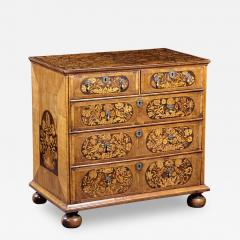 An 18th Century English Marquetry Walnut Chest Circa 1700 - 129697