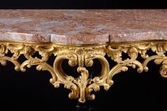 An 18th Century English Rococo Carved Giltwood Console With Marble Top - 128030