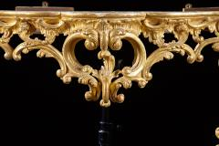 An 18th Century English Rococo Carved Giltwood Console With Marble Top - 128031