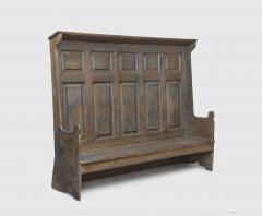 An 18th century American pine settle possibly Pennsylvania - 1210270