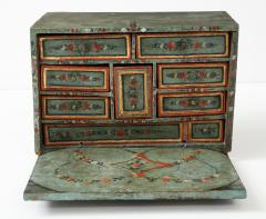 An 18th century polychrome and parcel gilt Spanish Colonial Vargueno - 1116663