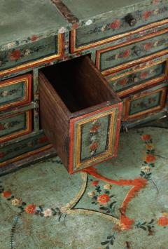 An 18th century polychrome and parcel gilt Spanish Colonial Vargueno - 1116671