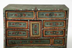 An 18th century polychrome and parcel gilt Spanish Colonial Vargueno - 1116674