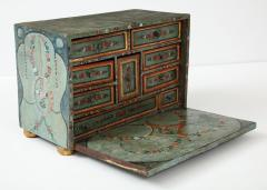 An 18th century polychrome and parcel gilt Spanish Colonial Vargueno - 1116681