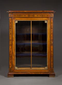 An Amaranth And Ebony Inlaid Display Cabinet Or Bookcase - 1307315