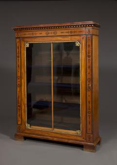 An Amaranth And Ebony Inlaid Display Cabinet Or Bookcase - 1307316