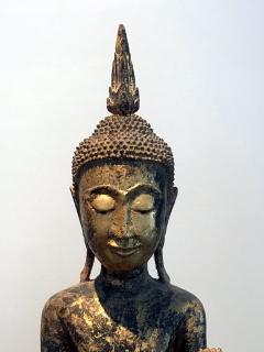 An Antique Gilt Wood Buddha Statue - 865596
