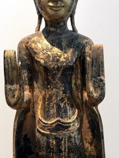 An Antique Gilt Wood Buddha Statue - 865598