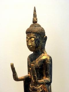 An Antique Gilt Wood Buddha Statue - 865601