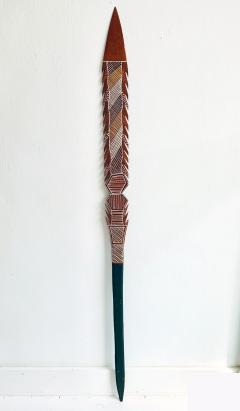 An Australian Aboriginal Carved and Pained Spear from Melville Island - 950428