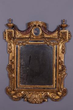 An Early Neoclassical Giltwood and Mecca Laccata Mirror Italian ca 1770 - 97151