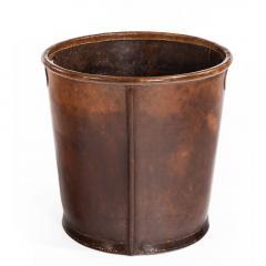 An Edwardian leather paper bucket - 816947