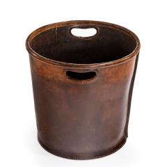 An Edwardian leather paper bucket - 816949