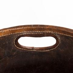 An Edwardian leather paper bucket - 816950