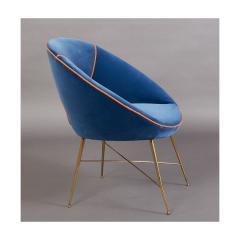 An Egg Shaped Modernist Italian Chair 1950s - 1989297