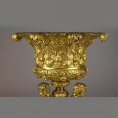 An Elaborate Pair of Figural Gilt Bronze Tazzas Supported by Three Cherubs - 2034351