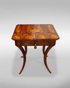 An Elegant Biedermeier Single Drawer Sewing Table - 457713
