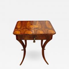 An Elegant Biedermeier Single Drawer Sewing Table - 458851