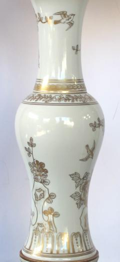 An Elegant Pair of 19th Century Chinese Porcelain Vases Now Lamps - 429657