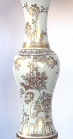 An Elegant Pair of 19th Century Chinese Porcelain Vases Now Lamps - 429658