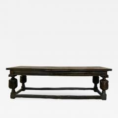 An Elizabethan Style Oak Draw Leaf Refectory Table   296456