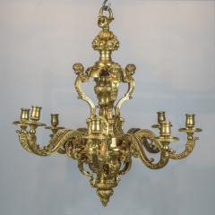An Exceptional High Quality of R gence Style Gilt Bronze Eight Light Chandelier - 1443998
